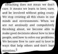 Detaching does not mean not caring